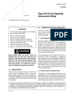 Type CO Circuit Opening Overcurrent Relay - Autores Varios - Editorial ABB - 1984