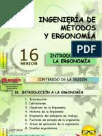 Sesión 16 INTRODUCCIÓN A LA ERGONOMÍA