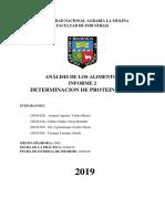 Informe 2 - Proteina Bruta