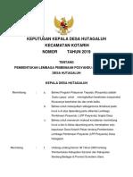 Sk Keputusan Kepala Desa Bandar Bayu