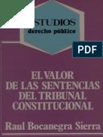 El Valor de Las Sentencias Del Tribunal Constitucional Bocanegra Sierra