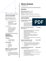 stone swayze resume 06-20