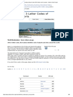 International Airport Codes IATA 3-Letter Code for Airports - Nations Online Project
