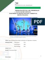 Aprovechamiento Biotecnológico de Residuos en La Agricultura y Ganadería. - Copia