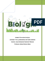 Unidad 3 Diversidad Biológica Actividad 1 Foro, Problemáticas Del Medio Ambiente
