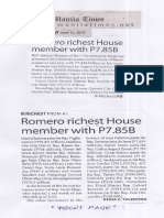 Manila Times, June 13, 2019, Romero richest House member with P7.85B.pdf