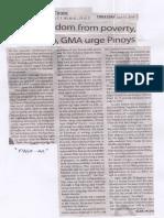 Manila Times, June 13, 2019, Seekfreedom from poverty Robredo GMA urge Pinoys.pdf