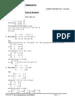 Maths Notes Xii Determinants Ncert Important Qa