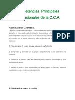 Competencias centrales de la CCA
