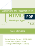 Html input types ppt