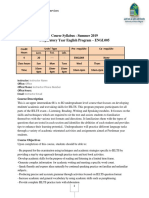 Course Card - Engl005 - Summer - 2019