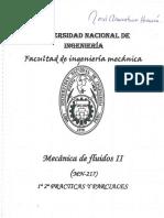 Mecanica de Fluidos II - Examenes Parciales UNI