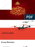Flying Drone. Quadrocopter PowerPoint Templates Widescreen