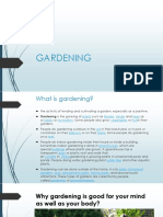 Importance of Gardening