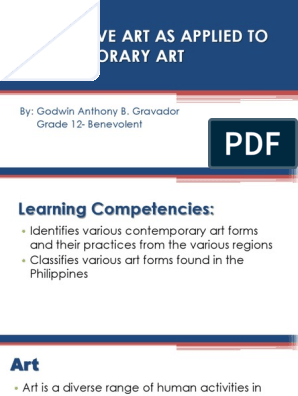 Integrative Art as Applied To | Contemporary Art | Philippines