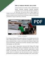Ensayo Sobre El Trabajo Infantil en El Perú
