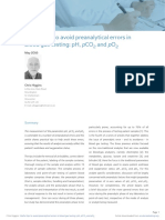 Useful Tips to Avoid Preanalytical Errors in Blood Gas Testing