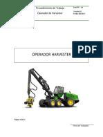 Pt-14 Operador de Harvester