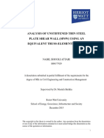 Analysis of Unstiffened Thin Steelplate Shear Wall (Spsw) Using Anequivalent Truss-elements Model