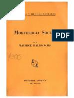 Halbwachs Morfologia Social