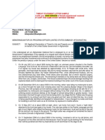 Threat Statement Letter Sample