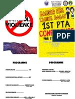 Program 1st Pta Conference