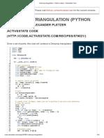 Delaunay Triangulation « Python Recipes « ActiveState Code