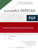 Ultrasonic Thickness Measurement Procedure