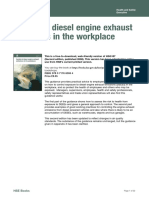 Control of Diesel Emissions in the Workplace HSG187 HSE