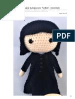 Daisyandstorm Com-Free Severus Snape Amigurumi Pattern Crochet