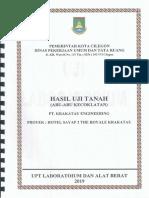 Hasil Uji Tanah PT. Krakatau Engineering Dari Dinas PU & Tata Ruang