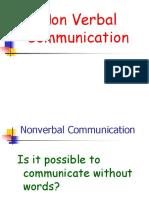 Non Verbal Communication - Body Language