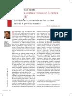Lucas, Ramón, L.C. - Persona, natura umana e bioetica  attuale (I)