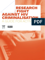 Using Research In The Fight Against HIV Criminalisation - A Guide for Activists