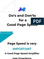 Do's and Don'ts for a Good Page Speed