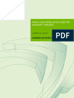 CUDA Installation Guide Windows