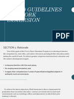 Deped Guidelines for Work Immersion Report