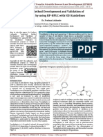Analytical Method Development and Validation of Teneligliptin by using RP HPLC with ICH Guidelines
