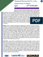 CapitalStars MCX Report 13 June 2019