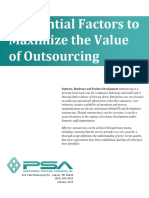 Maximizing the Value of Outsourcing