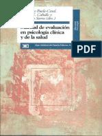 Caballo, Vicente E. - Manual de Evaluación en Psicología Clínica y de La Salud