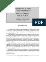 FINCHELSTEIN Psicoanálisis sur y norte