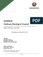 Greater Bendigo Ordinary Agenda 19 June 2019