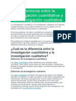 Diferencia Entre La Investigación Cuantitativa y La Investigación Cualitativa