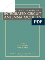 Analysis and Design of Integrated Circuit Antenna