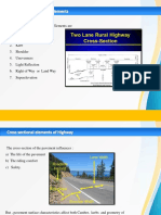 cross sectional elements of a road