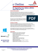 20743 Upgrading Your Skills to MCSA Windows Server 2016