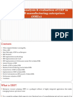 Performance analysis & evaluation of ERP in Indian small manufacturing enterprises (SMEs)