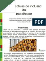 Perspectiva Do de Inclusão Do Trabalhador (perfil do novo Trabalhador)