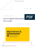 How to Register Sole Proprietorship Firm in India